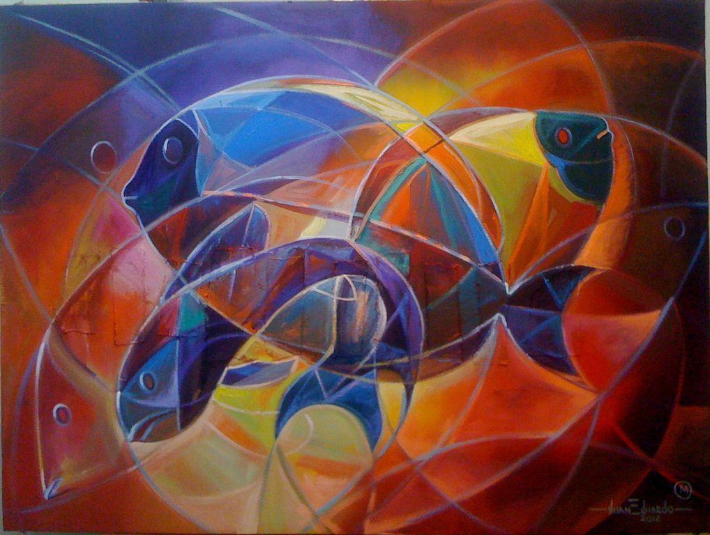De la serie peces tropicales1 juan eduardo martinez for Cuadros de peces