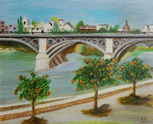 Puente de triana de sevilla roc o hern ndez jim nez for Todo pintura sevilla