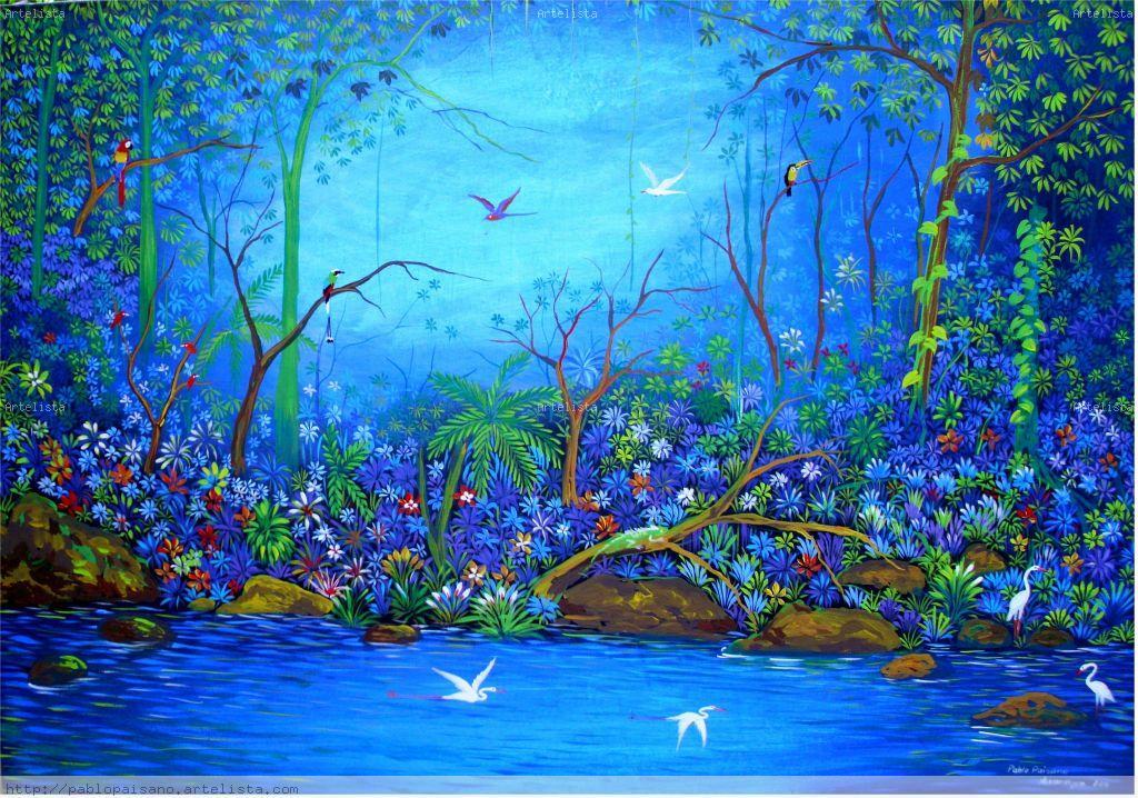 paisaje azul