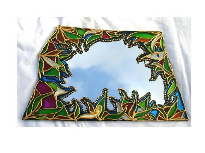 Pintura sobre el espejo 2 eva mas eva mas - Cuadros de espejo ...