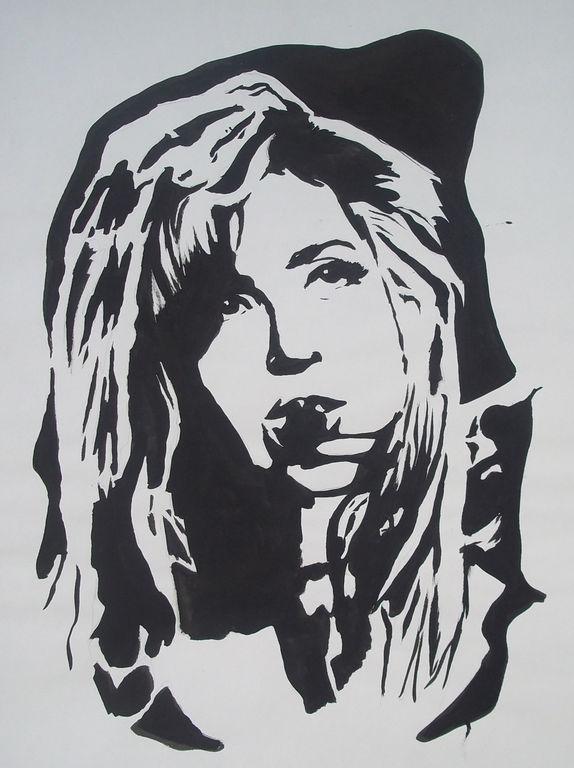 Cara Lady Gaga Blanco y Negro Cris García - Artelista.com