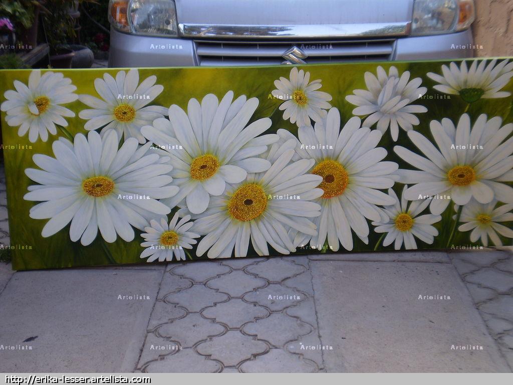Cuadros modernos flores xeles pintura abstracta car - Floreros modernos ...