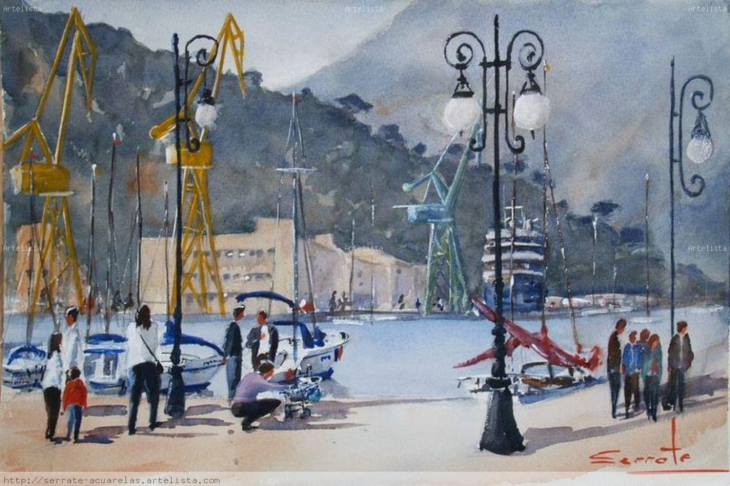 Puerto de cartagena agustin serrate fece - Pintores en cartagena ...