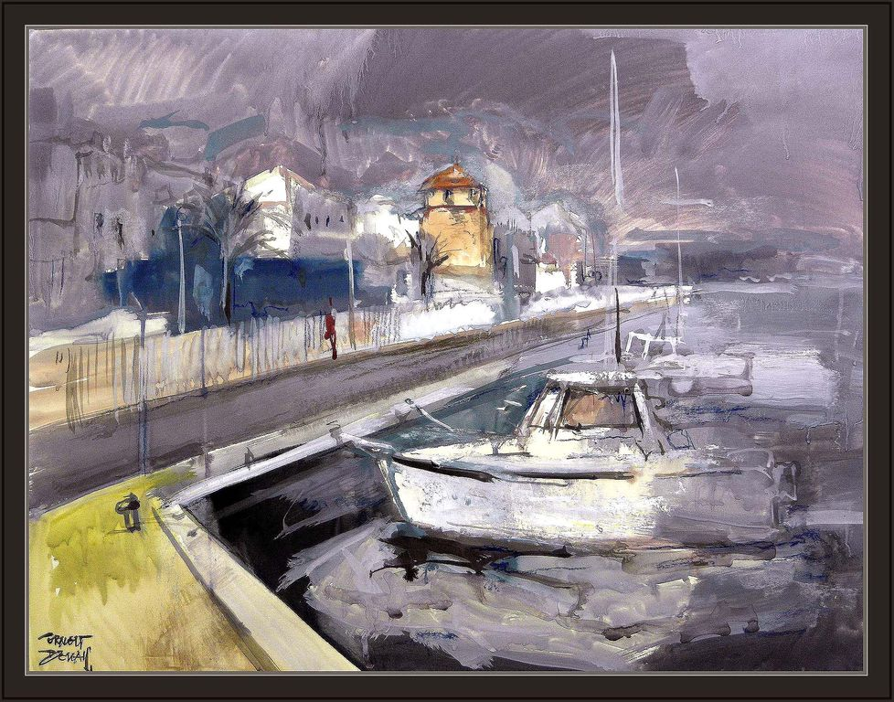 Marina pintura puerto cambrils port barcas barcos cuadros for Cuadros de marinas