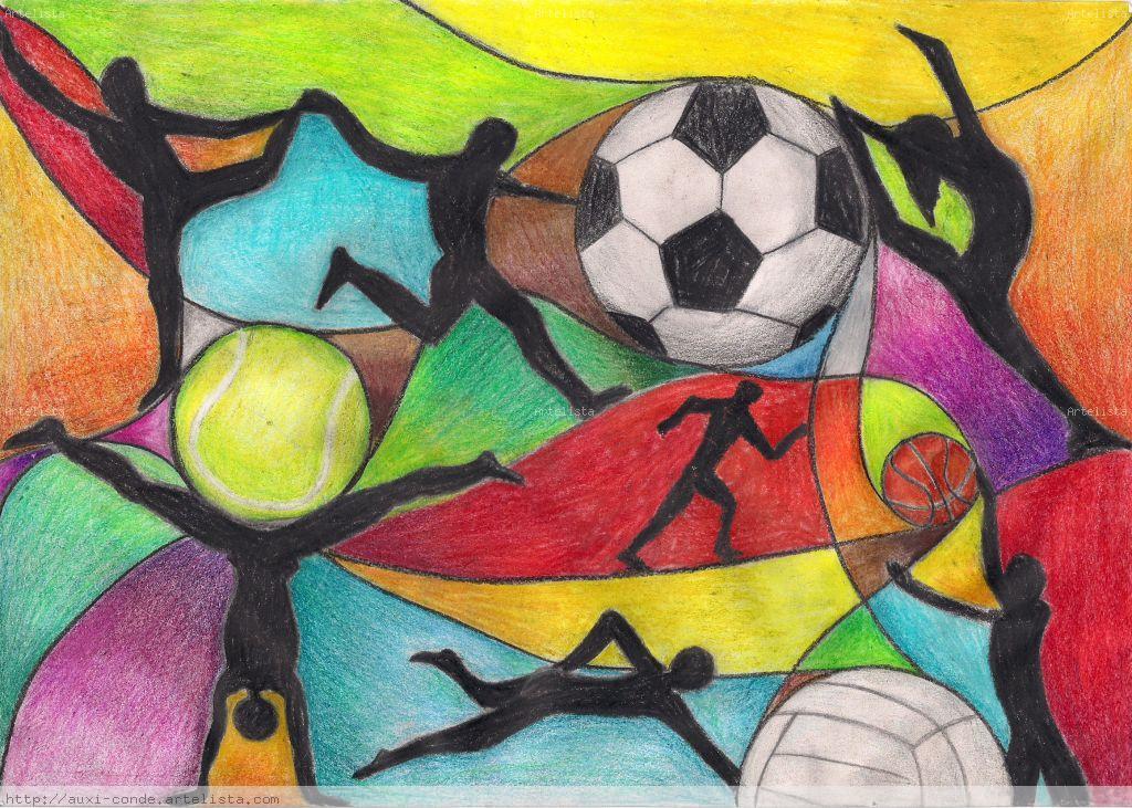 Boceto para mural deportivo auxi conde guerrero - Murales con fotos ...