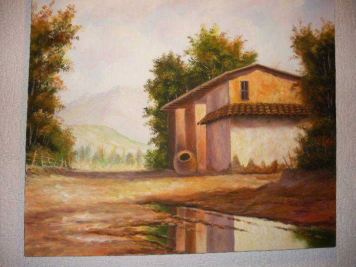 Casas de campo maria cristina aravena - Cuadros de casas de campo ...