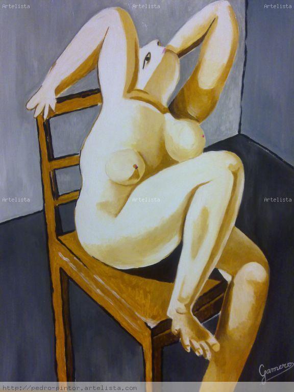 Follada de culo sentada en una silla - Mujeres desnudas