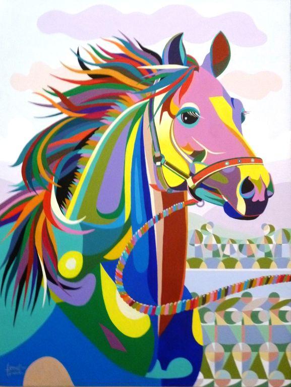 Horse face hermel quezada for Imagenes de cuadros abstractos geometricos