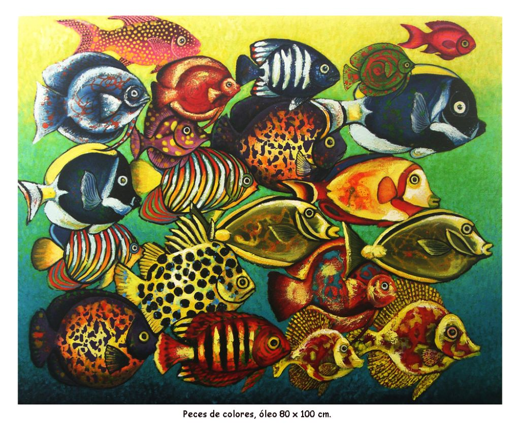 Peces de colores jose alejandro herrera mora for Cuadros de peces
