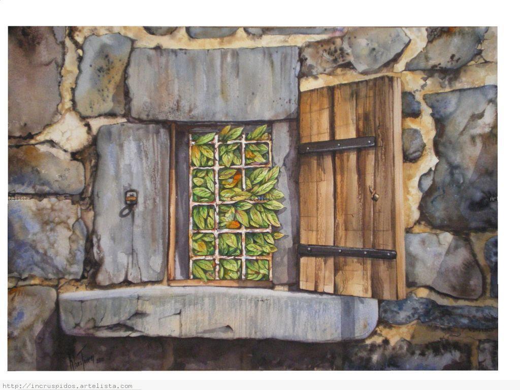 La ventana de piedra verde klara torres - Cuadros con piedras ...