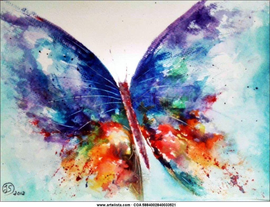 Mariposa de fantasia joaquin serrano diaz - Color y pintura ...