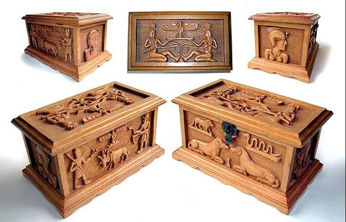 caja decorativa Talla Muebles y Objetos de Madera