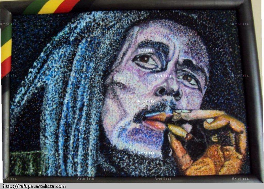 Marley rafael perez echeverria for Cuadros bob marley
