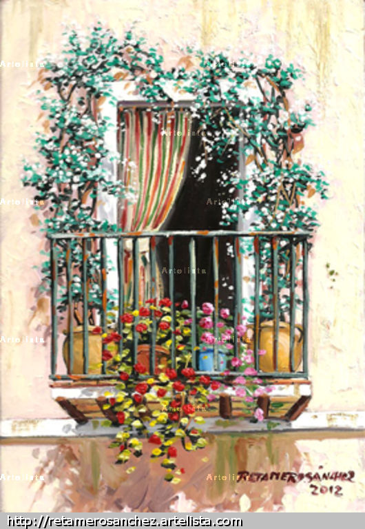 Balcon con jazmin francisco jose retamero sanchez for Balcon in english