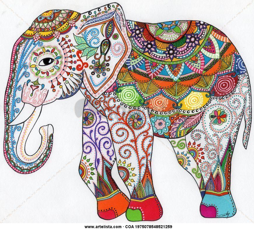 Elefante g ly for Imagenes de cuadros abstractos faciles