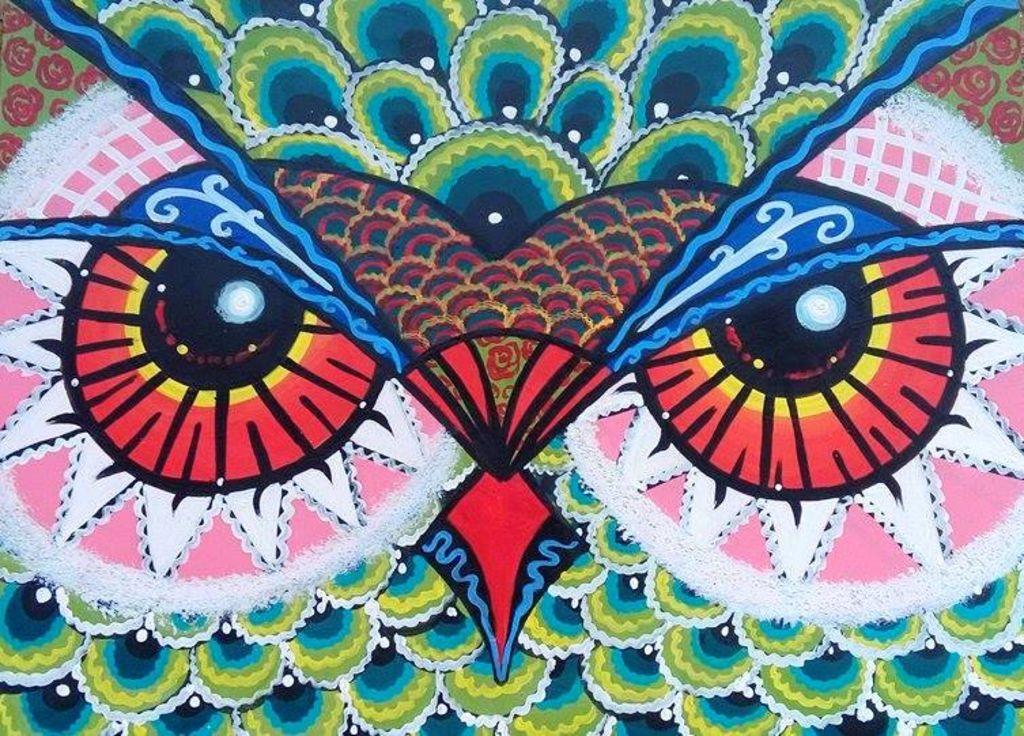 Buhos del alma danna d coz for Imagenes de cuadros abstractos faciles