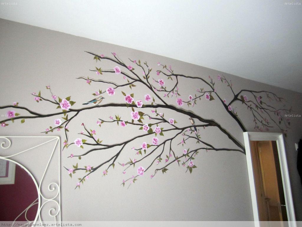 Mural arbol mariola pelaez for Como pintar un mural en una pared