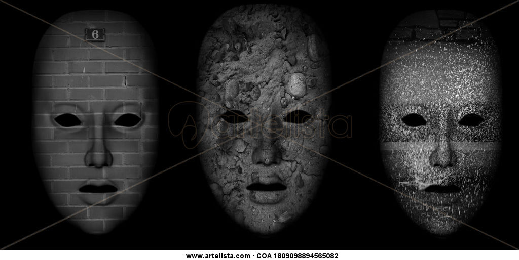 máscaras 2 tríptico
