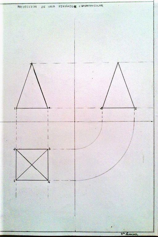proyeccion de piramide cuadrangular isabel vieiro torres- Artelista.