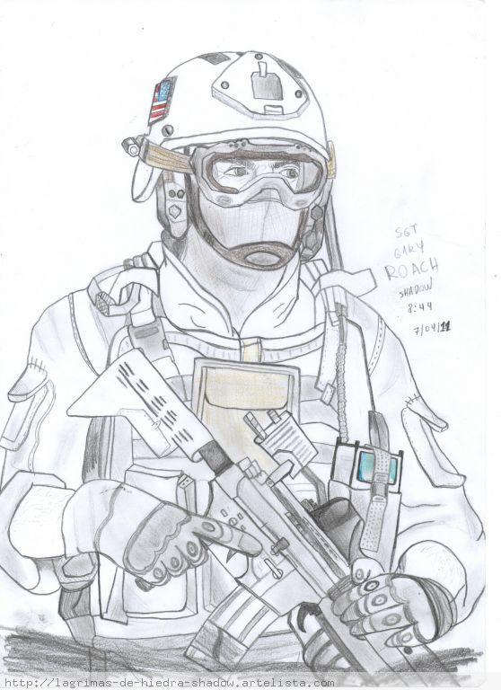 Coloring Pages Of Advanced Warfare : Call of duty drawings coloring pages