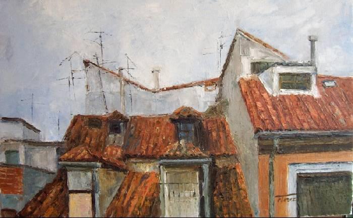 Tejados de madrid maribel fl rez bielsa - Dibujos de tejados ...