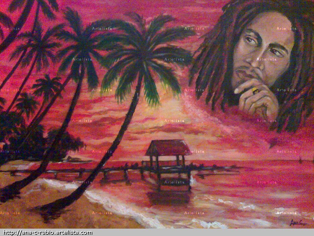 Jamaica de bob marley ana c rubio - Cuadros de bob marley ...
