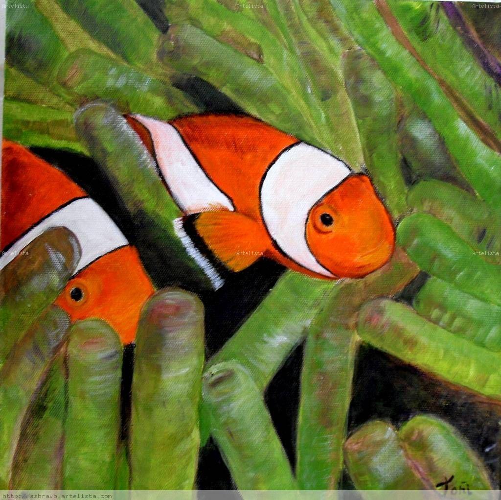 Peces payaso to i s nchez bravo for Cuadros con peces