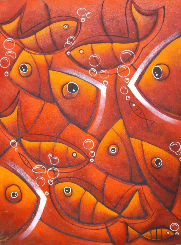 Peces rojos patricio correa artgallery for Cuadros de peces