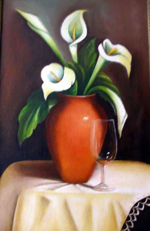 bodegon con flores Jose Miguel Morales Solano - Artelista.com