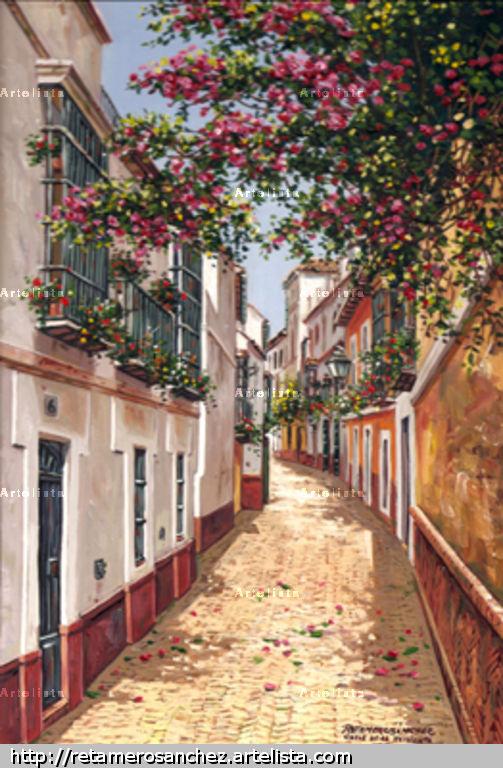 Sevilla calle de la pimienta francisco jose retamero for Todo pintura sevilla