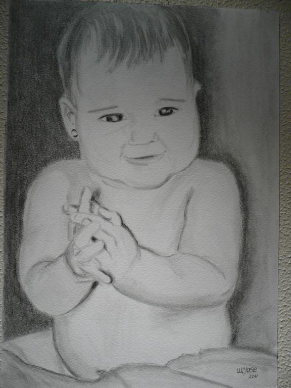 Bebe Durmiendo Dibujo a Lapiz Dibujo de Bebé a Lapiz