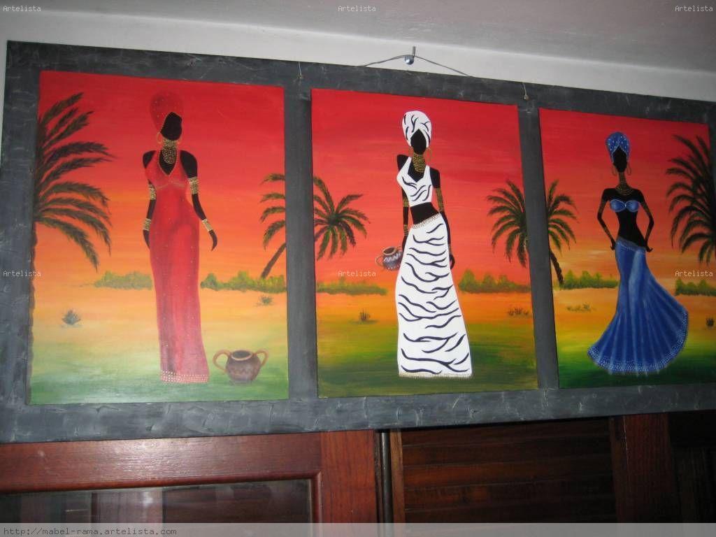 negras africanas Tabla Acrílico Otros