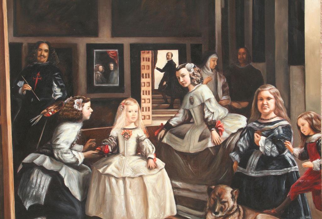 Las meninas copia del cuadro de d velazquez elena velasco arest en - Cuadros de meninas ...