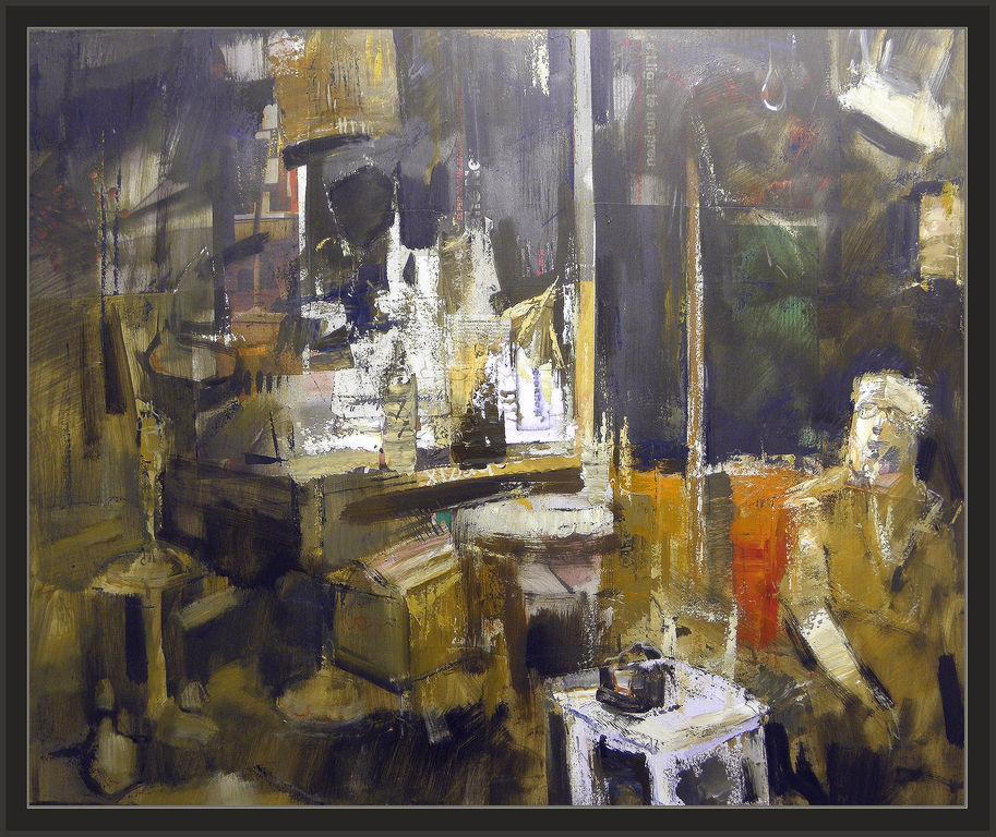 Meditacion estudio interiores pintura cuadros personajes - Cuadros de interiores ...