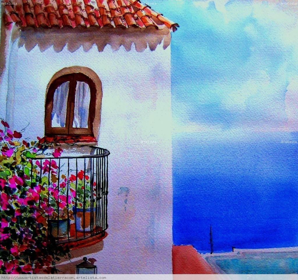 Un balc n al mar cabo de gata nuria font for Balcon in english