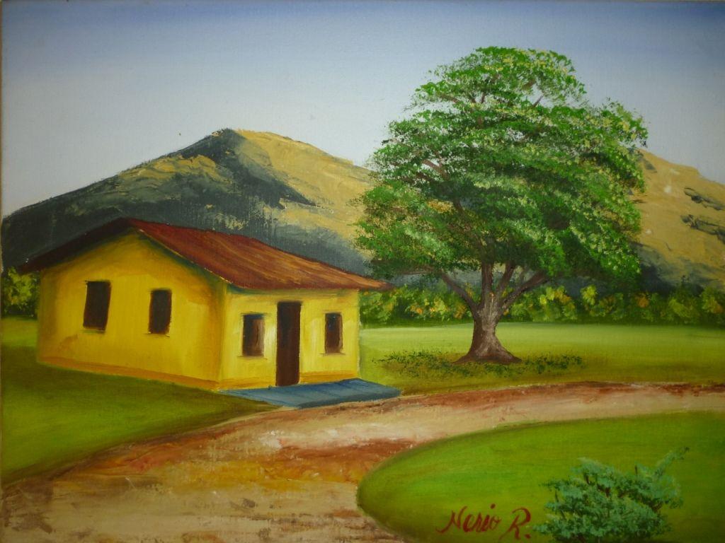 Paisaje andino casa en la monta a nerio reyes for La casa de las pinturas