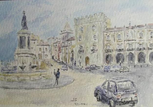 Plaza de pelayo en gij n juan serrera ranero - Pintores en gijon ...