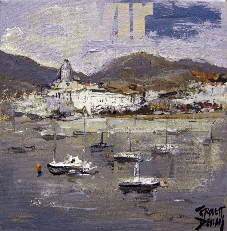 Cadaques marina barcas paisajes mar cuadros pintor ernest - Pintores en girona ...