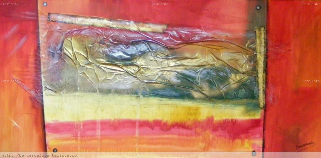 Cuadro abstracto hector martinez berceruelo for Imagenes de cuadros abstractos texturados