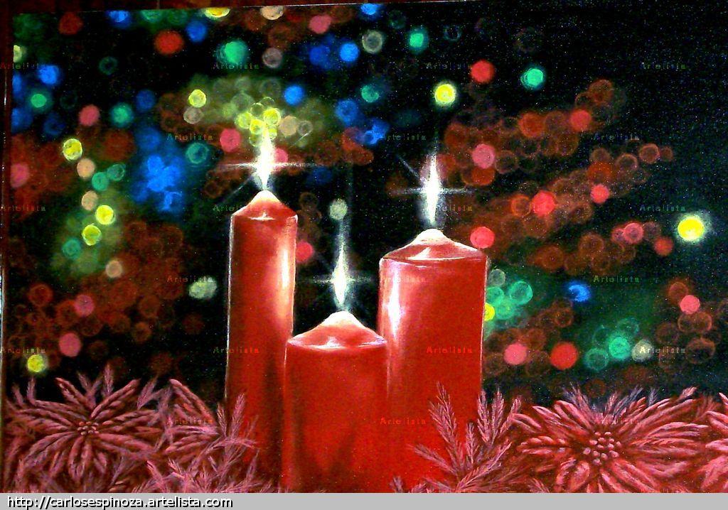 Velas navide as j carlos espinoza for Velas navidenas
