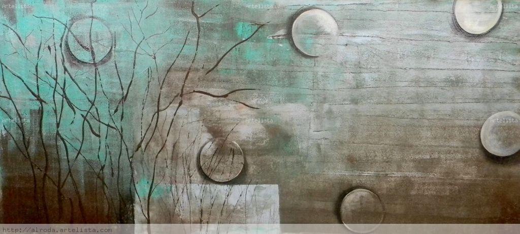 Abstracto turquesa gloria riojas for Pintura turquesa pared