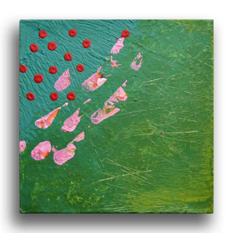 Pintura abstracta en acr lico sobre lienzo cromoterapia - Pintura azul turquesa ...