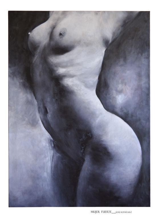Mujer Fuerte Lienzo Leo Desnudos