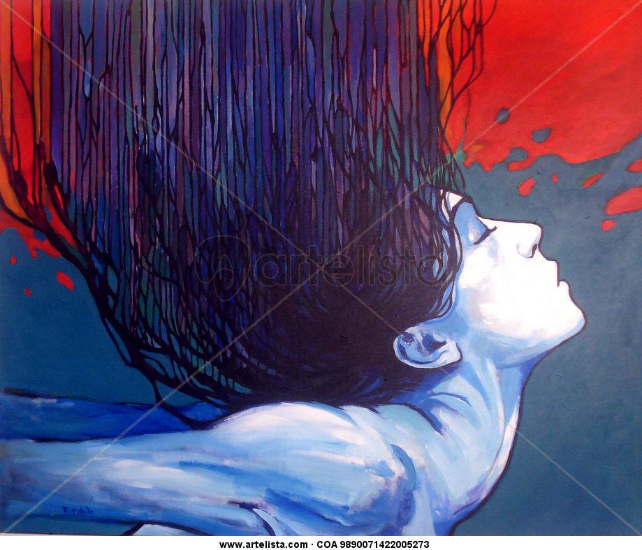 Terpsicore Textile Acrylic Portrait