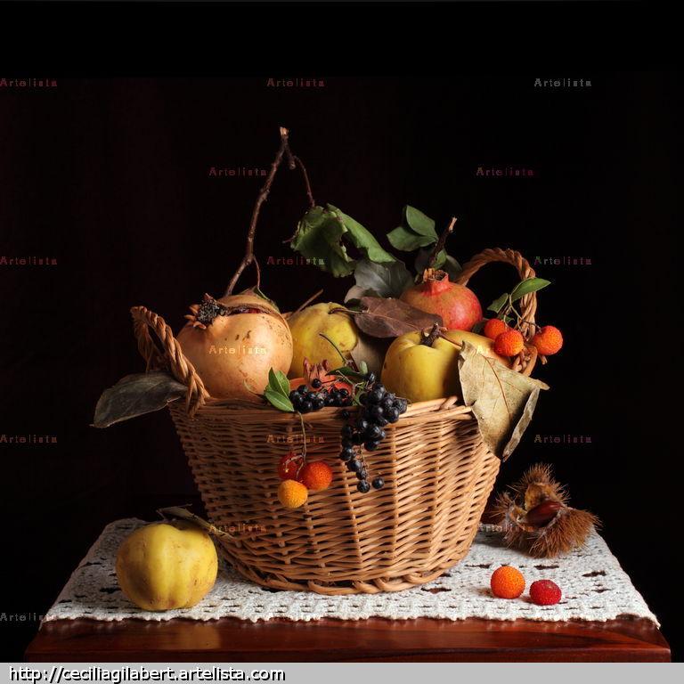 Bodeg n de cesto con frutas de oto o mar a cecilia - Fotos de bodegones de frutas ...