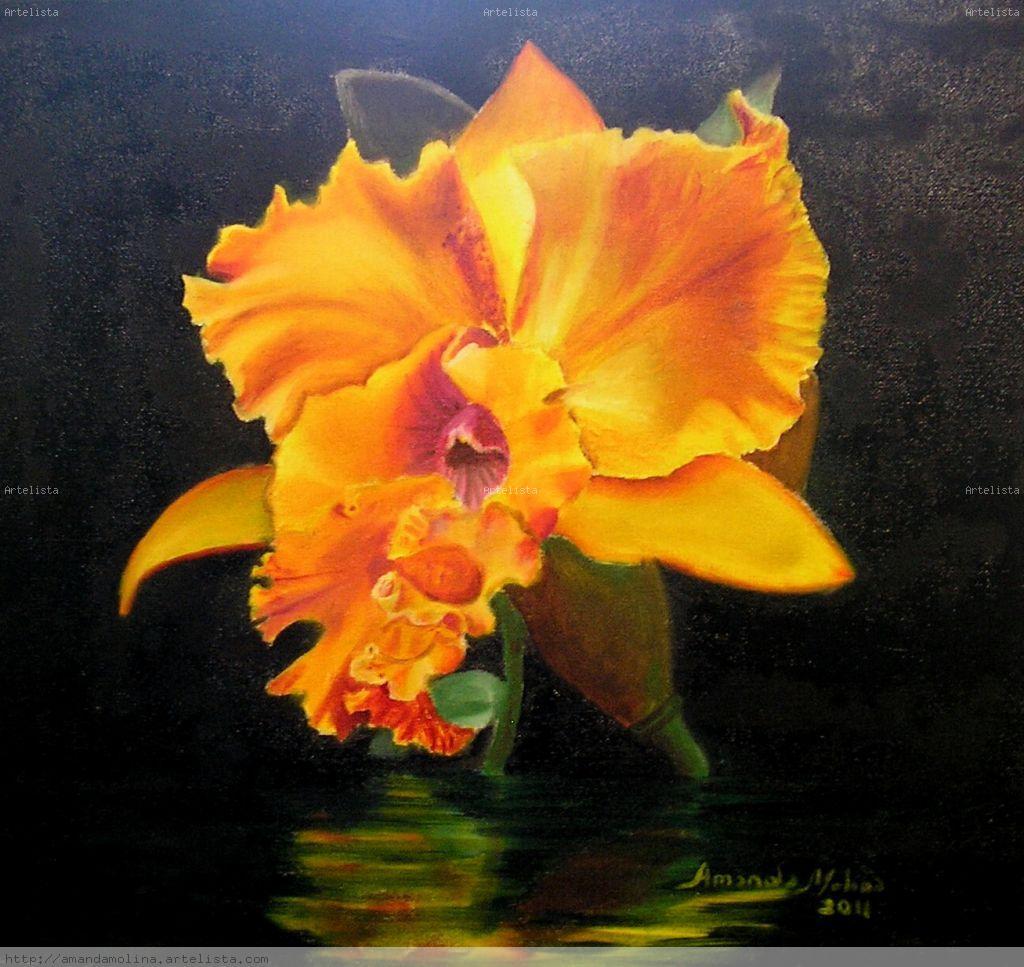 Orquidea Lienzo   Leo Floral
