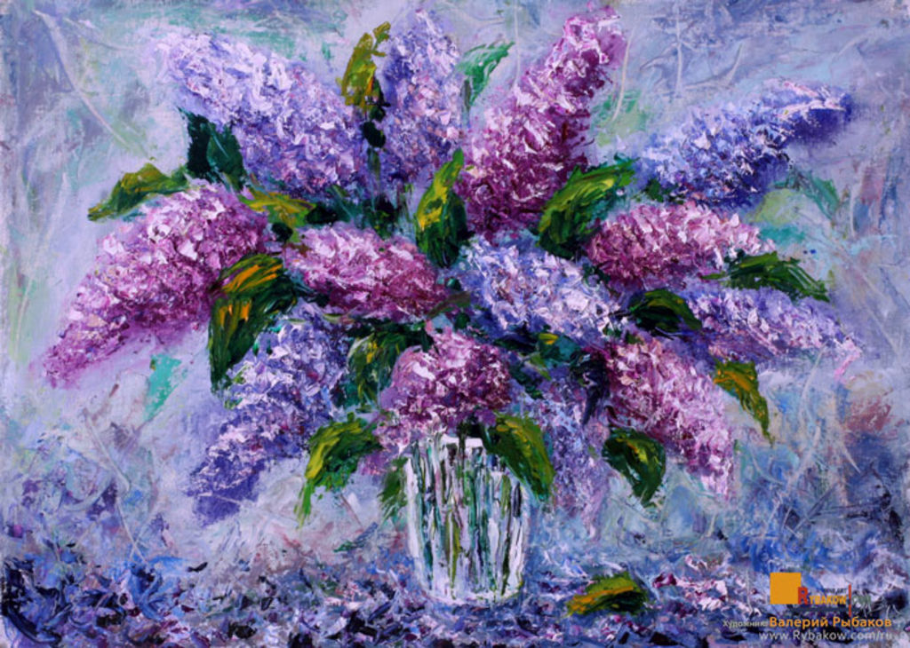 Flowers oil painting bouquet fresh flowers lilac for Oil paintings for sale amazon