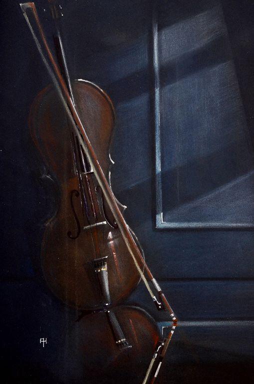 violin en la ventana, violin on the window