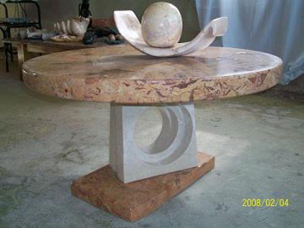 Mesa de marmol hector caro acosta for Marmol para mesa