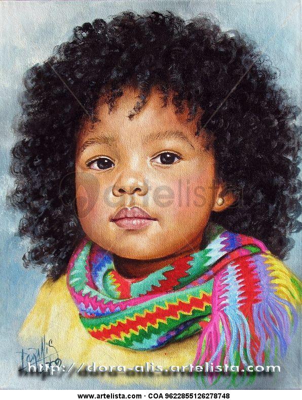 Niña de Raza Negra 9 Dora Alis Mera V. - Artelista.com - en